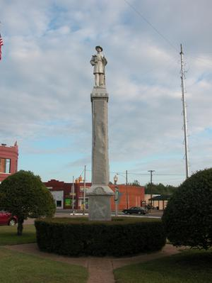 Primary view of object titled 'Monument with statue of Confederate soldier, Clarksville'.