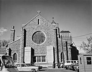 Primary view of object titled '[Saint Andrews Episcopal Church, (Front facade)]'.