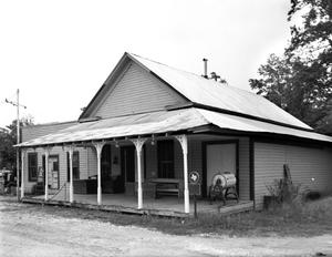 Primary view of object titled '[Old Wells Store, (Southeast oblique)]'.