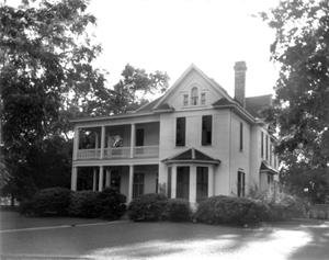 Primary view of object titled '[Moore House, (Northeast oblique)]'.