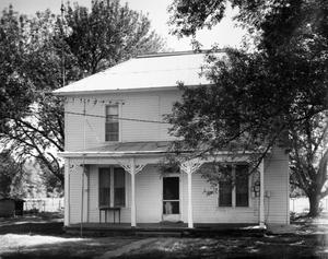 Primary view of object titled '[Stacey House, (North facade)]'.