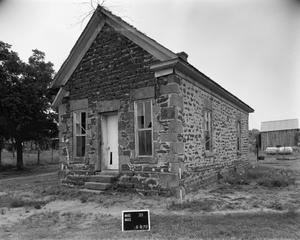 Primary view of object titled '[Officer's House, (Northwest oblique)]'.