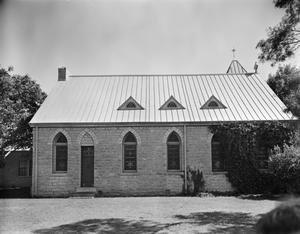 Primary view of object titled '[Matthews Memorial Presbyterian Church, (North elevation)]'.
