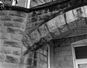 Primary view of object titled '[McCulloch County Courthouse, (Detail of arch)]'.