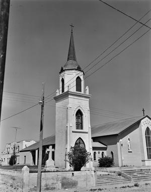 Primary view of object titled '[Old Church Tower (Our Lady of Refuge Catholic), (Northwest)]'.