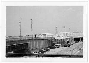 Primary view of object titled '[Dallas Love Field Airport : View of Airport Buildings Near Construction Site]'.