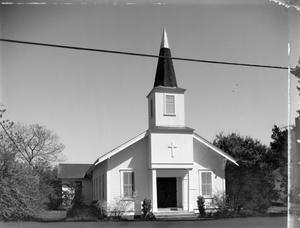 Primary view of object titled '[United Methodist Church, (West facade)]'.