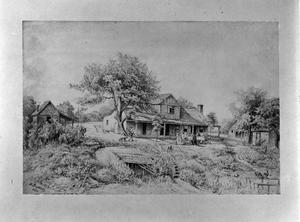 Primary view of object titled '[Badenthal, (1850s drawing of Kapp house by Lungwita.)]'.
