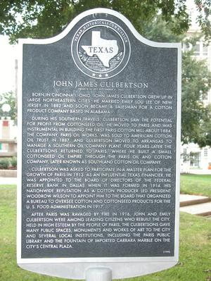 Primary view of object titled 'Historic plaque - John James Culbertson'.