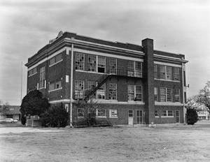 Primary view of object titled '[Lamar School, (Rear elevation)]'.