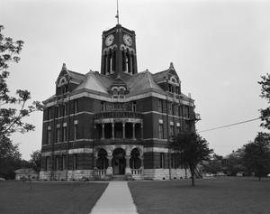 Primary view of object titled '[Lee County Courthouse, (Northwest oblique)]'.