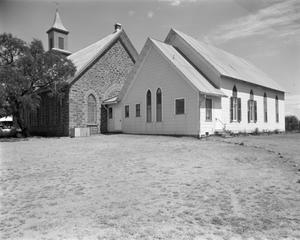 Primary view of object titled '[Art Methodist Church, (Northwest oblique)]'.