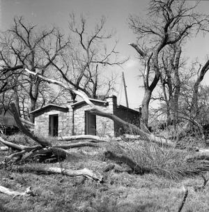 Primary view of object titled '[Matador Ranch Remains of White House]'.