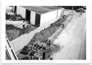 Primary view of object titled 'Construction by Shed'.