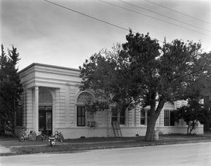 Primary view of object titled '[Blessing State Bank Building]'.