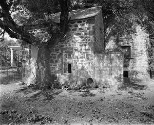 Primary view of object titled '[Premier Ranch (H.F. Kothmann House), (North oblique of original structure in rear)]'.