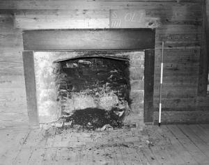 Primary view of object titled '[Oliphant House, (Fireplace detail, lower Southeast room)]'.