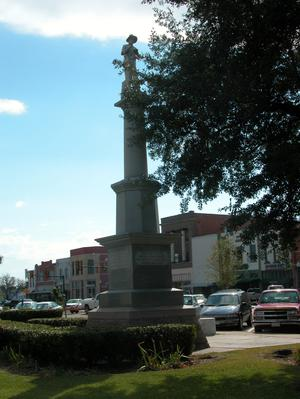 Primary view of object titled 'Confederate memorial, Fannin County'.