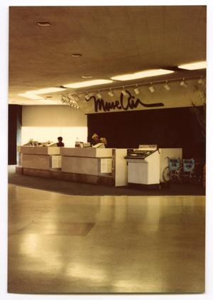 Primary view of object titled '[Dallas Love Field Airport : Muse Air Ticket Counter]'.