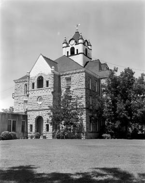 Primary view of object titled '[McCulloch County Courthouse, (Northeast oblique)]'.