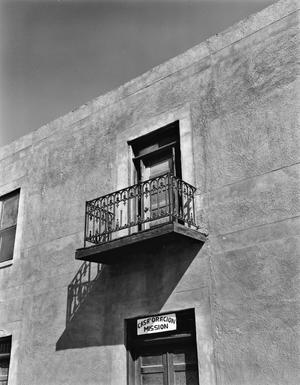 Primary view of object titled '[L.L. Garcia House, (Detail: over North door)]'.