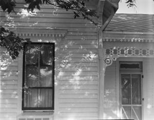 Primary view of object titled '[L.H. Hill House, (East detail)]'.