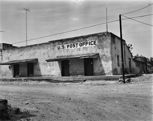 Primary view of object titled '[Post Office Building, (East elevation)]'.