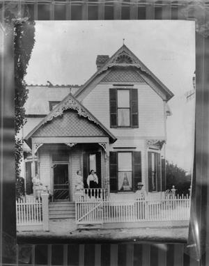 Primary view of object titled '[Brown-Dorsey House, (East elevation)]'.