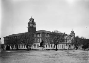 Primary view of object titled '[Administration Building, (Northeast oblique)]'.