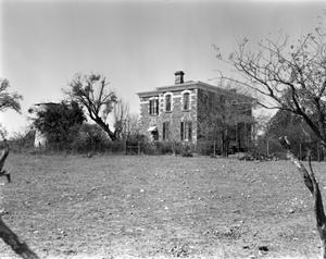 Primary view of object titled '[Moran House, (East elevation with stone cistern)]'.