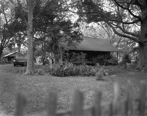 Primary view of object titled '[Dog-trot House, (East facade)]'.