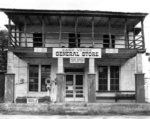 Primary view of object titled '[Camp Verde Store, (Front elevation)]'.