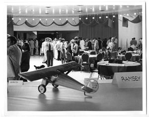 Primary view of object titled '[Lindbergh Flight Reenactment Reception : Guests Socializing]'.