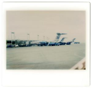 Primary view of object titled '[Dallas/Fort Worth Airport : Two American Airlines Airplanes]'.