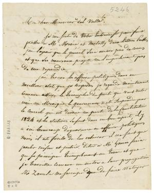 Primary view of object titled '[Letter from Baradere to de Valle, February 3, 1836]'.