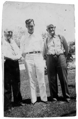 [James E. Sutherlin with John H.and Edgar B. Sutherlin]