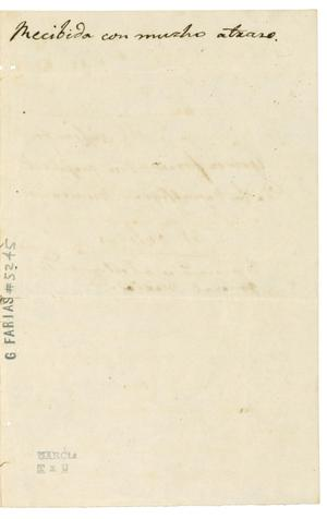 Thumbnail Image Of Item Number 3 In: U0027[Letter From Baradere To Valentin  Gomez