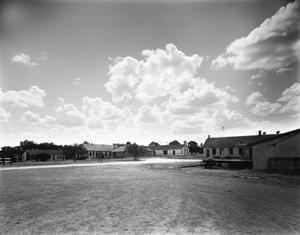 Primary view of object titled '[Fort Clark, (View to West from barns and commissary)]'.