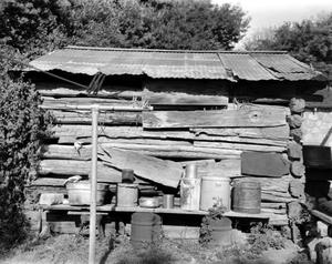 Primary view of object titled '[Caldwell Ranch (Cabin), (Side elevation)]'.
