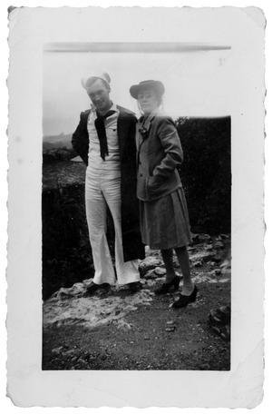 Primary view of object titled ']James Edgar Sutherlin and his mother, Edith Wilson Sutherlin]'.