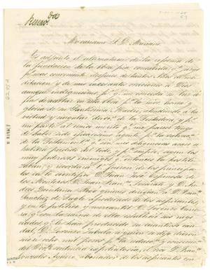 Primary view of object titled '[Letter from Atilano Sanchez to Mariano, March 13, 1857]'.