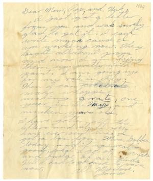 Primary view of object titled '[Letter by James Sutherlin to his family - c. 1944]'.