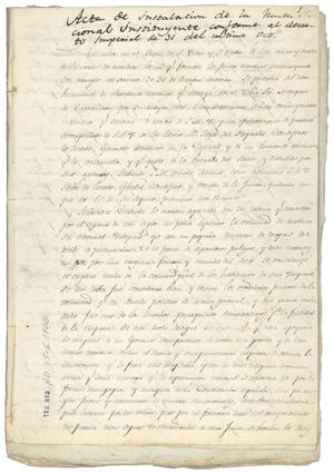 Primary view of object titled '[Decrees of Mexican Government, dated November 2-4, 1822]'.