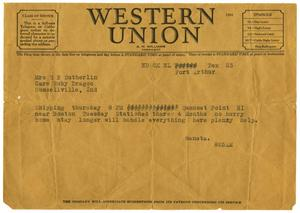 [Telegram by Waneta Sutherlin Bowman to her mother, 1943 - 1946]