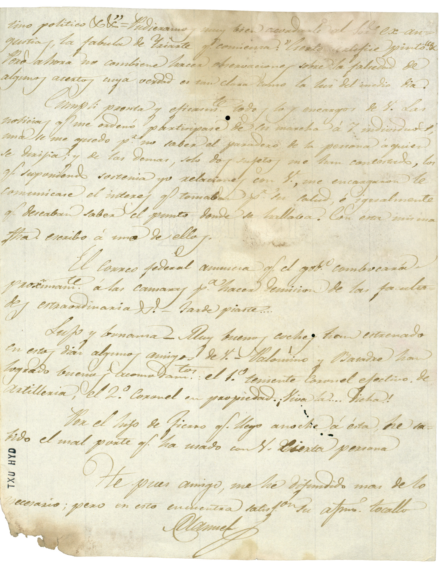 [Letter from Manuel to Veramendi, September 30, 1829]                                                                                                      [Sequence #]: 3 of 3