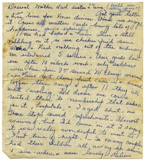 Primary view of object titled '[Letter by Maurine Sutherlin to her family - 1943 - 1946]'.