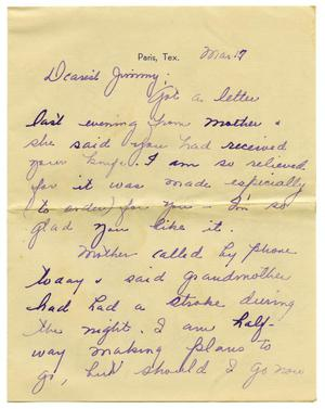 [Letter by Maurine Sutherlin to James E. Sutherlin - 03/17/1945]