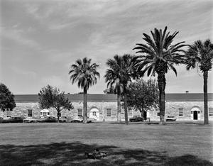 Primary view of object titled '[Fort Sam Quadrangle, (East interior elevation, quad)]'.