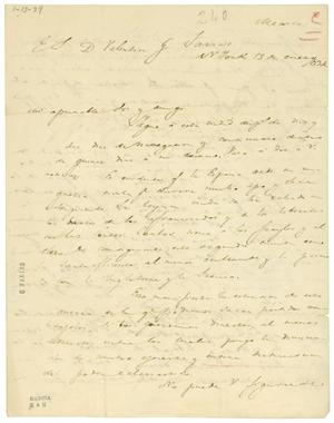 Primary view of object titled '[Letter from Lorenzo de Zavala to Valentin Gomez Farias, January 13, 1834]'.