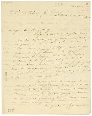 Primary view of [Letter from Lorenzo de Zavala to Valentin Gomez Farias, January 13, 1834]